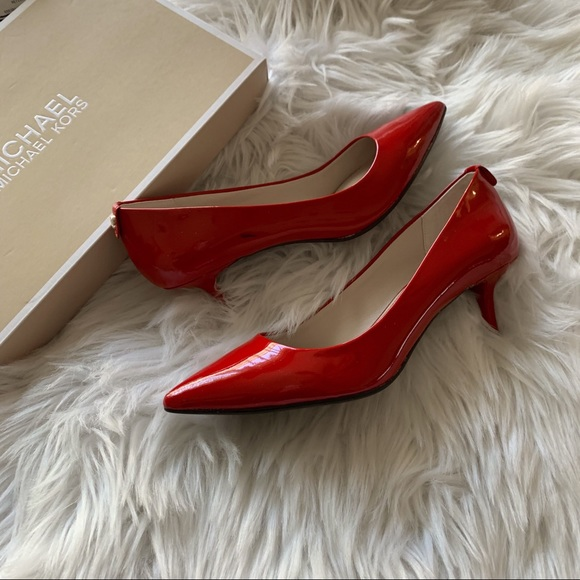 Michael Kors Shoes - MICHAEL KORS Pointy Red Shiny 1 inch  Heels